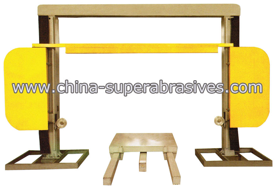 Diamond wire sawing machine for profiling and squaring granite,marble!